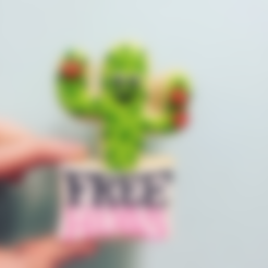 Download free STL file cactus free hugs cutter, goncastorena