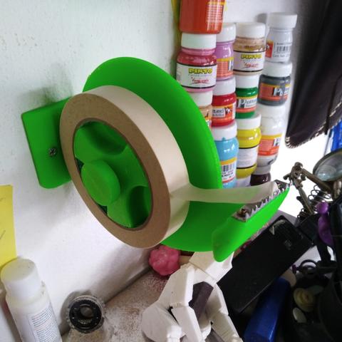 Free 3d printer designs wall tape dispenser, goncastorena