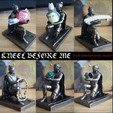 Modèle 3D Kneel before me! Holder for small items., Oscarko