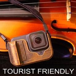 gopro8_a.jpg Download STL file GOPRO 8 Tourist Friendly Case with accessible USB port • 3D printable model, Oscarko