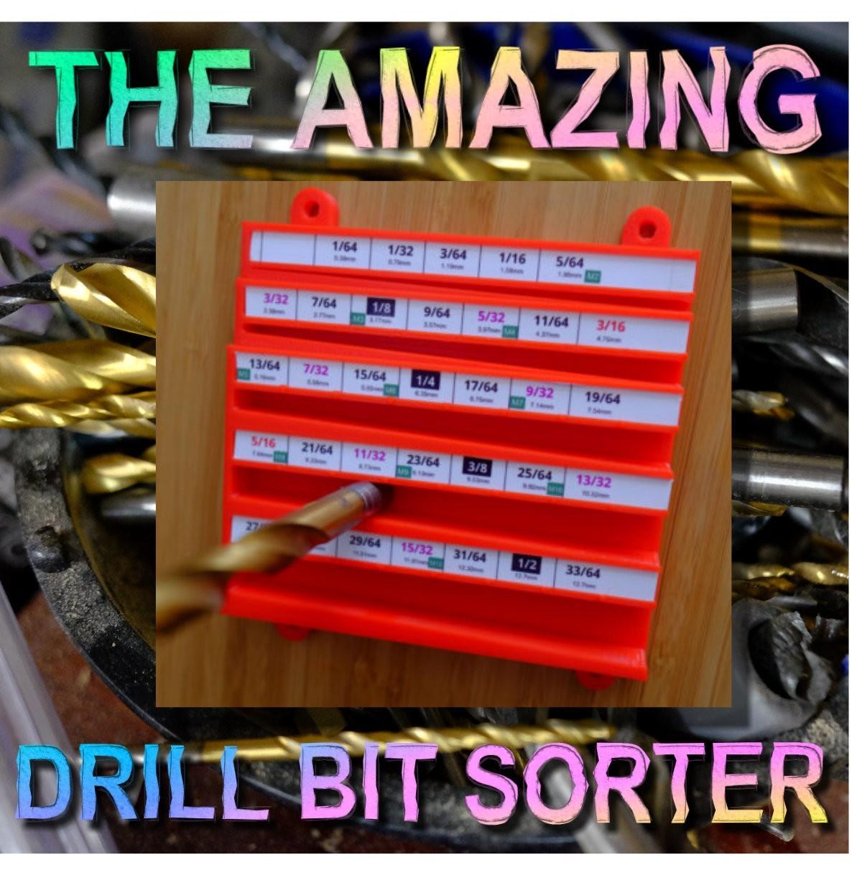 title.jpg Download STL file The Amazing Drill Bit Sorter (imperial, fractional) • 3D printer object, Oscarko