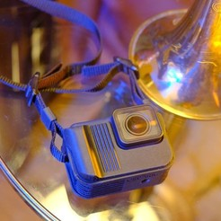 imahe1.jpg Download STL file Ultimate GoPro Hero 7 camera neck strap case • 3D printer model, Oscarko
