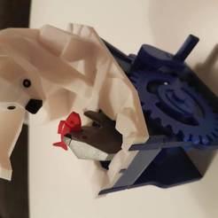 Télécharger fichier 3D gratuit Ours polaire avec phoque (automates), Roxynet