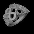 Télécharger plan imprimante 3D gatuit Bijoux Bijoux en 3D CAD Anneau de fiançailles Femmes, hitman75