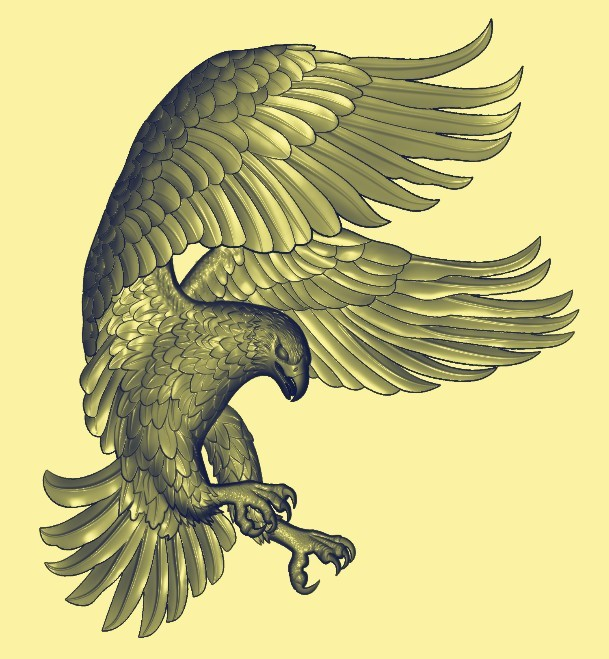 1288_副本.jpg Download free STL file eagle 3d stl relief model • 3D printable design, stlfilesfree