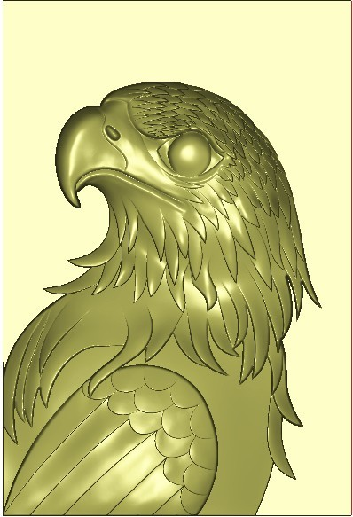 老鹰头方牌2.jpg Download free STL file eagle 3d stl relief model • 3D printable design, stlfilesfree