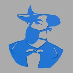 Jack1.jpg Download STL file Jack Mask's stencil stencil • 3D printer template, Softail