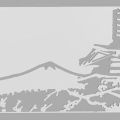 1.jpg Télécharger fichier STL Fuji Yama Pochoir Japon • Modèle imprimable en 3D, Softail