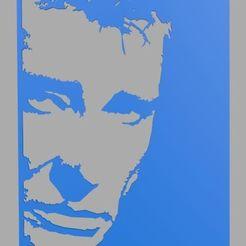 1.jpg Download STL file Johnny Halliday Stencil • Model to 3D print, Softail