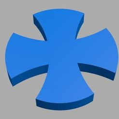 1.jpg Download STL file Custom Maltese Cross • 3D printer object, Softail