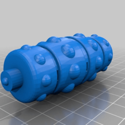 ff8c3a7e3e49e0f94b5c51891eff66f2.png Download free STL file Massage roller replacement for Ufesa massager. • 3D printable template, faisca2000