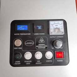 Télécharger fichier STL gratuit Panneau de contrôle personnalisé du laser K40 • Plan pour impression 3D, faisca2000
