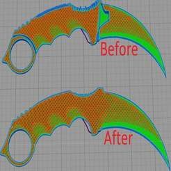 1.JPG Download free STL file Karambit stl Fixed and easy print version • 3D print template, faisca2000