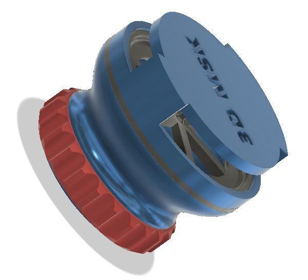 valve1.JPG Télécharger fichier STL gratuit Valve expiratoire universelle pour les masques • Modèle pour imprimante 3D, faisca2000