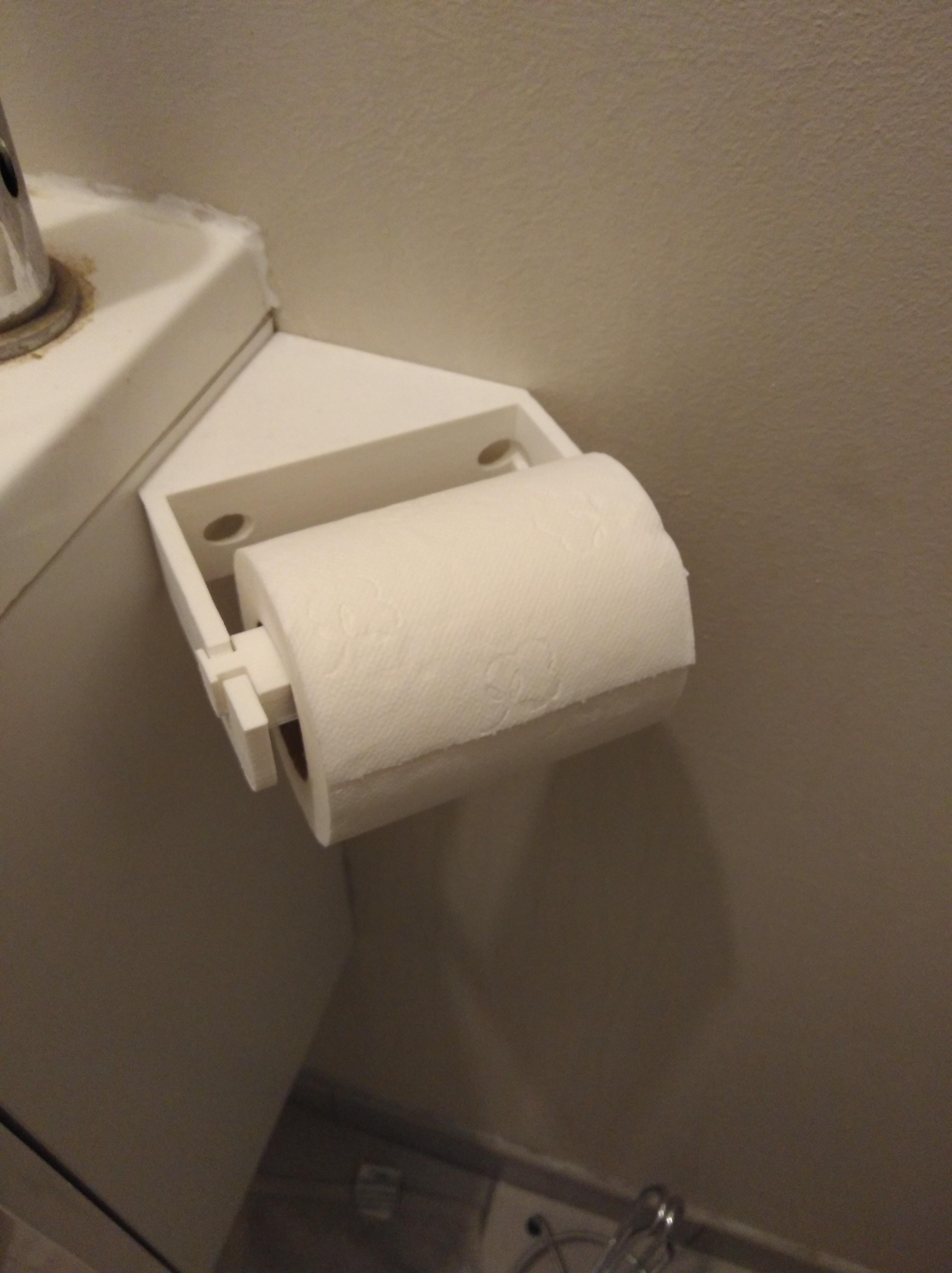 IMG_20180322_201535.jpg Download free STL file Corner toilet paper holder • Model to 3D print, LLH