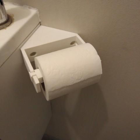 Archivos STL gratis Soporte de papel higiénico de esquina, LLH