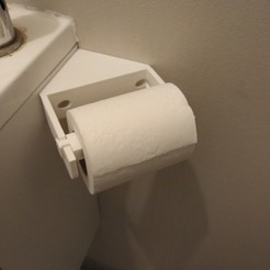 Download free 3D printing templates Corner toilet paper holder, LLH