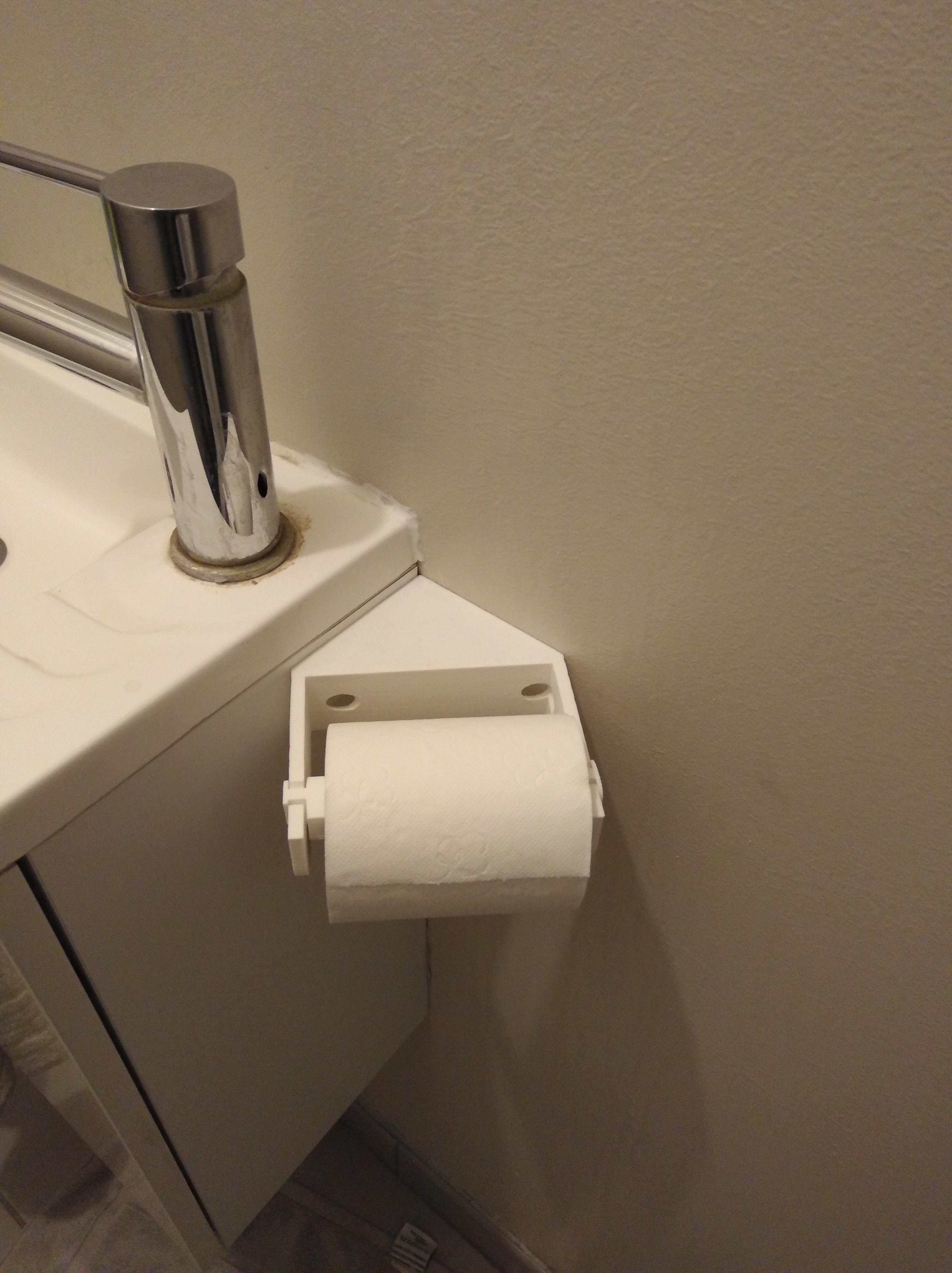 IMG_20180322_201546.jpg Download free STL file Corner toilet paper holder • Model to 3D print, LLH