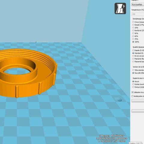 ecrou.JPG Download free STL file Above-ground pool vacuum cleaner nozzle • Model to 3D print, LLH