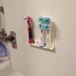 plan 3d gratuit Support tête brosse à dents , LLH