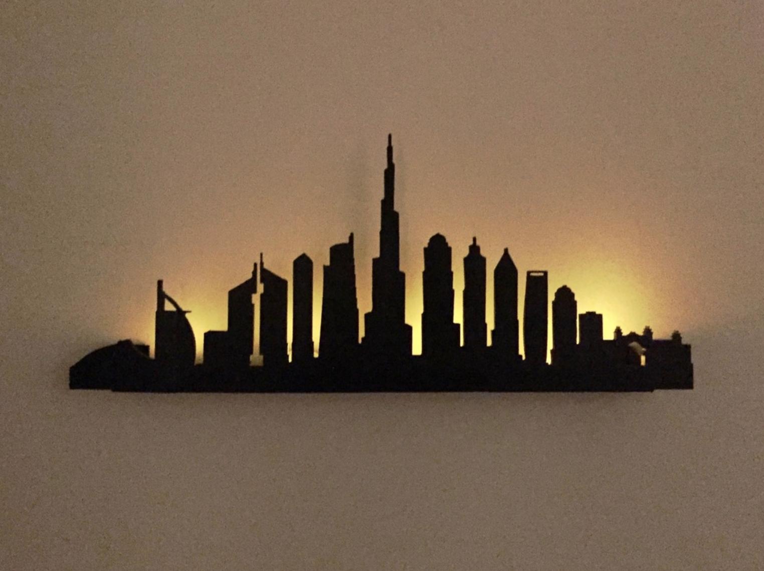 Capture d'écran 2017-11-06 à 14.27.33.png Download free STL file Dubai Silhouette Wall Decor • 3D printer object, milasls
