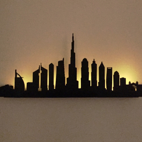 Free 3d model Dubai Silhouette Wall Decor, milasls
