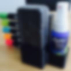 Holder.stl Download free STL file Expo Markers, Eraser and Cleaner Spray Holder • 3D printer model, milasls