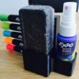Capture d'écran 2017-11-06 à 14.24.34.png Download free STL file Expo Markers, Eraser and Cleaner Spray Holder • 3D printer model, milasls
