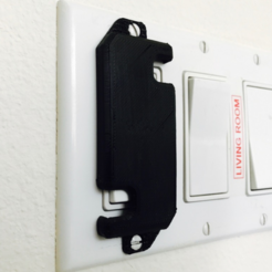 Free STL file Light Switch Guard, milasls