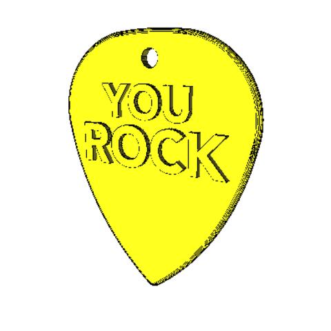 Standard-Pick-You-Rock-01.png Download STL file Pick You Rock • 3D printer template, eMulas