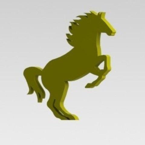 3D printer file Rampant horse, nldise