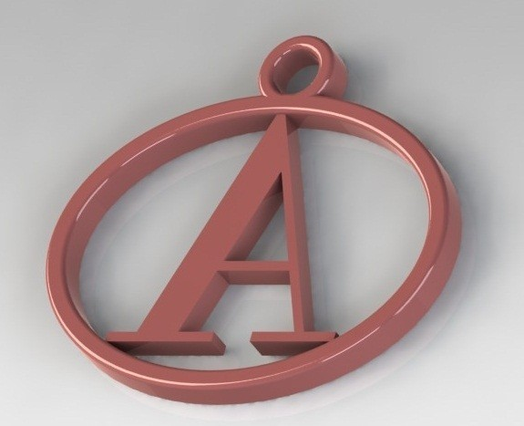 Dije A.JPG Download STL file Pendants with letter A • 3D print template, nldise