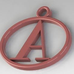 STL Pendants with letter A, nldise