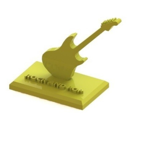 Download 3D print files Electric guitar with base, nldise
