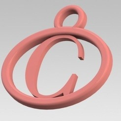 Descargar archivo 3D Dije con letra C, nldise