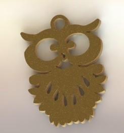 Dije Lechuza.JPG Download STL file Barn Owl Pendant • 3D printer template, nldise