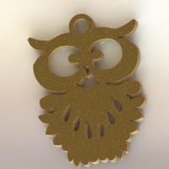3d printer designs Barn Owl Pendant, nldise