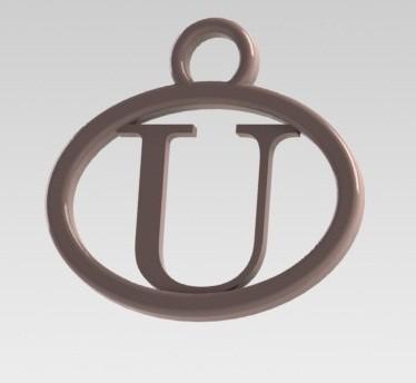 Dije U.JPG Download STL file I said letter U • 3D printing design, nldise