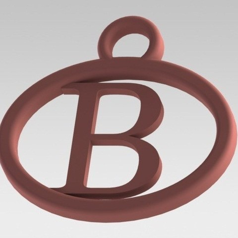 Dije B.JPG Download STL file I said with a letter B • 3D printable template, nldise
