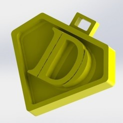 D.JPG Download STL file You say letter D • 3D print template, nldise