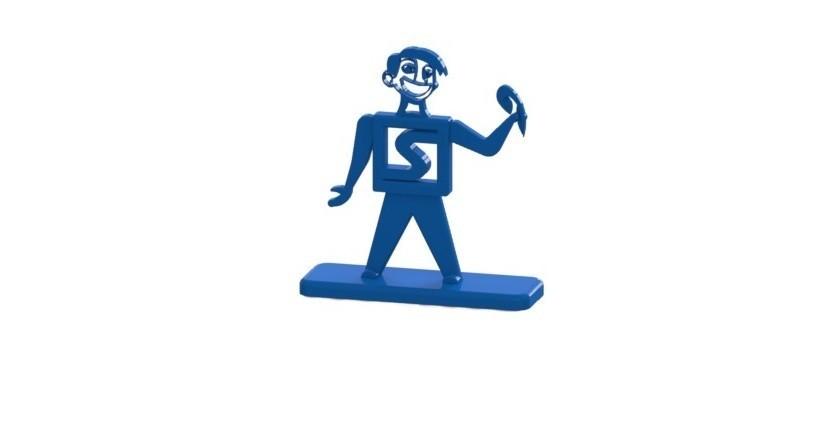 Mascota con base.JPG Download free STL file Stratomaker mascot with base • 3D printable model, nldise