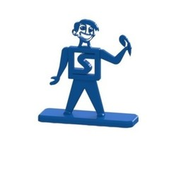 Download free STL file Stratomaker mascot with base, nldise