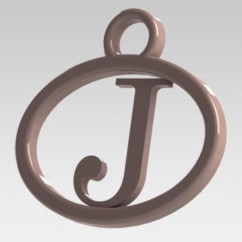 Modelos 3D para imprimir Dije con letra J, nldise