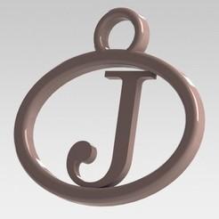 Descargar modelos 3D para imprimir Dije con letra J, nldise