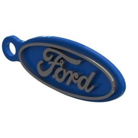Free 3d printer designs Ford keychain, nldise
