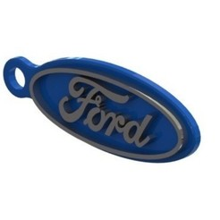 Download 3D printing models Ford Key Ring, nldise