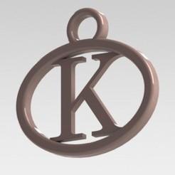 Impresiones 3D Dije con letra K, nldise