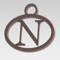 Descargar modelos 3D Dije con letra N, nldise