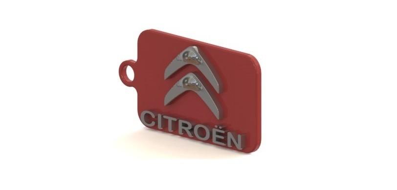 Citroen.JPG Download STL file Citroen key ring • Design to 3D print, nldise