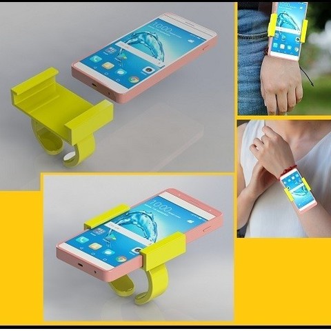 Download free 3D printing files Bracelet support for phone, nldise